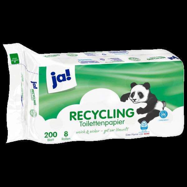 Ja! Recycle Toilettenpapier 2lg 8x200 Blatt