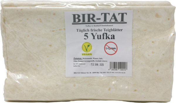 Birtat Frische Teigblätter Taze Yufka 1 Kg