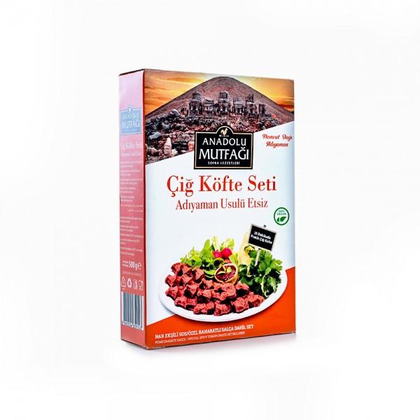 Anadolu Mutfagi Cig Köfte Seti Adıyaman usulu (Vegan)