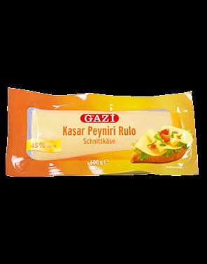 Gazi Kashkaval Rulo Schnittkäse - Kasar Peyniri Rulo 600g