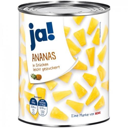 Ja! Ananas in Stücken 580ml