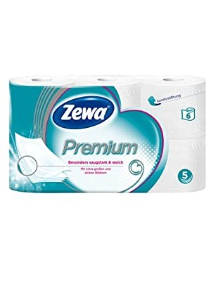 Zewa Premium 5 Lagig 6 x 110 Blatt