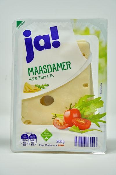 JA ! Maasdamer 45% Fett i.Tr. 300g