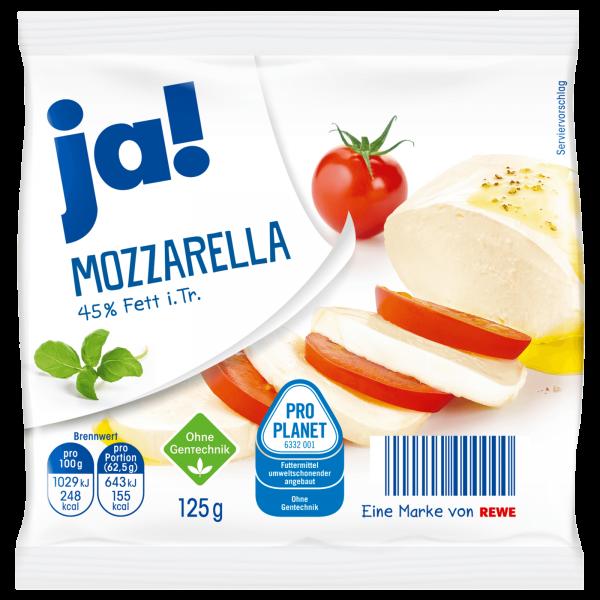 Ja! Mozzarella 45% Fett 125g