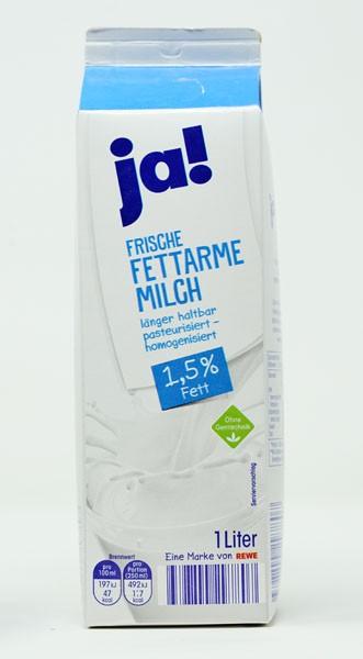 JA ! Frische Fettarme Milch 1,5 % Fett 1