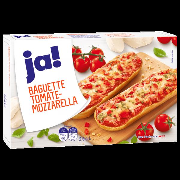 JA ! Baguette Tomate Mozzarella 2 x 125g = 250g