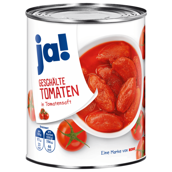 Ja! Geschälte Tomaten 480g