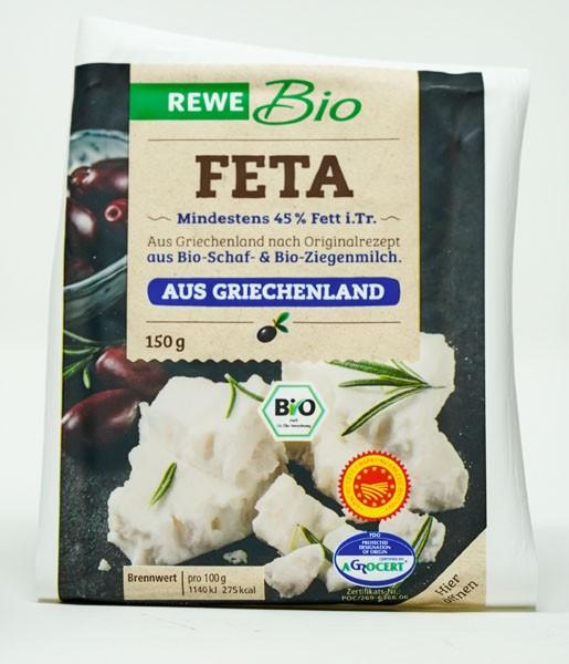 Rewe BIO Feta 45% Fett i.Tr. 150g