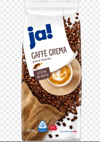 Ja! Caffee Crema ganze Bohnen 1Kg