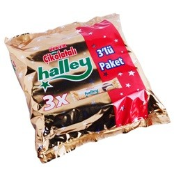 Ülker Cikolatali Halley 3 Paket 231g