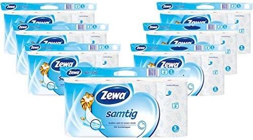 Zewa Samtig Toilettenpapier 3-Lagig 8 Stück