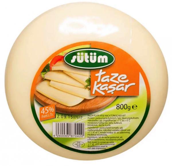 Sütüm Taze Kasar Peynir 800g