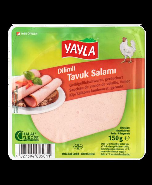 Yayla Geflügelfleischwurst geräuchert - Dilimli Tavuk Salam 150g