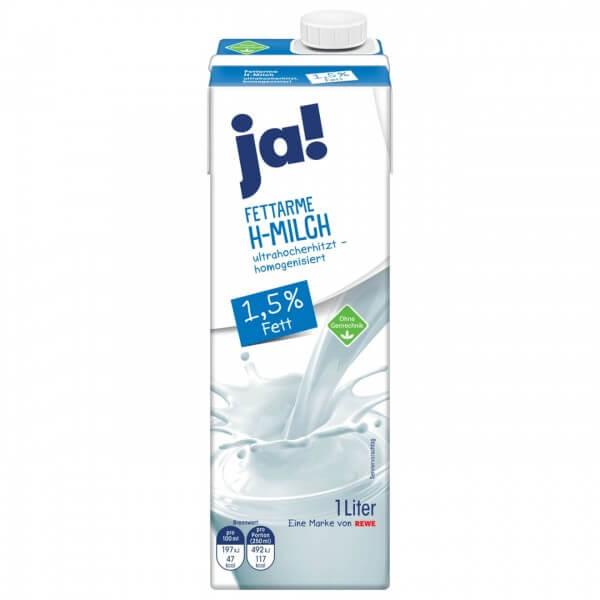 Ja! Frische Fettarme Milch 1,5 % Fett 1
