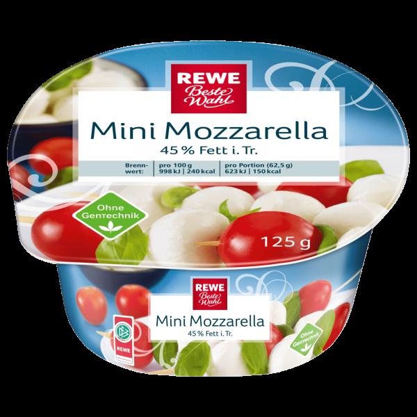 Rewe BW Mini Mozzarella 125g
