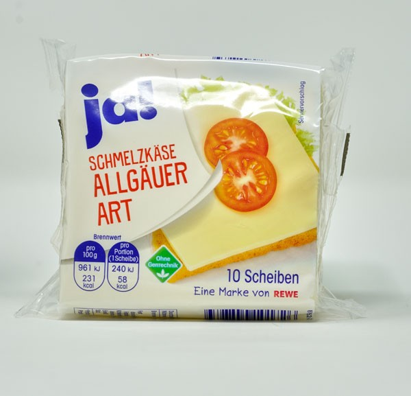 JA ! Schmelzkäse Allgäuer 10 Scheiben 25