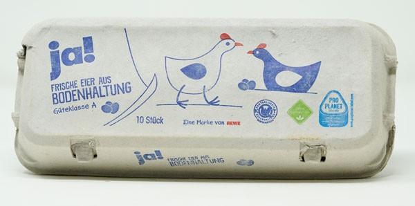 Ja! frische Eier aus Bodenhaltung Gütek