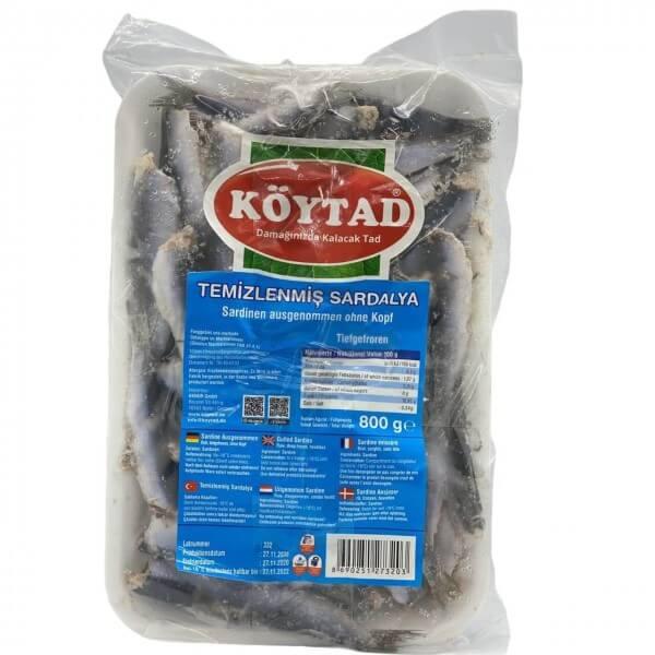 Köytad Sardinen Ausgenommen ohne Kopf - Temizlenmis Sardalya 800g