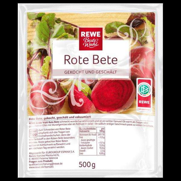 Rewe BW rote bete gekocht und vakumiert