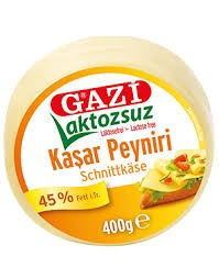 Gazi Laktosefrei Kashkaval Schnittkäse - Laktozsuz Kasar Peyniri 400g