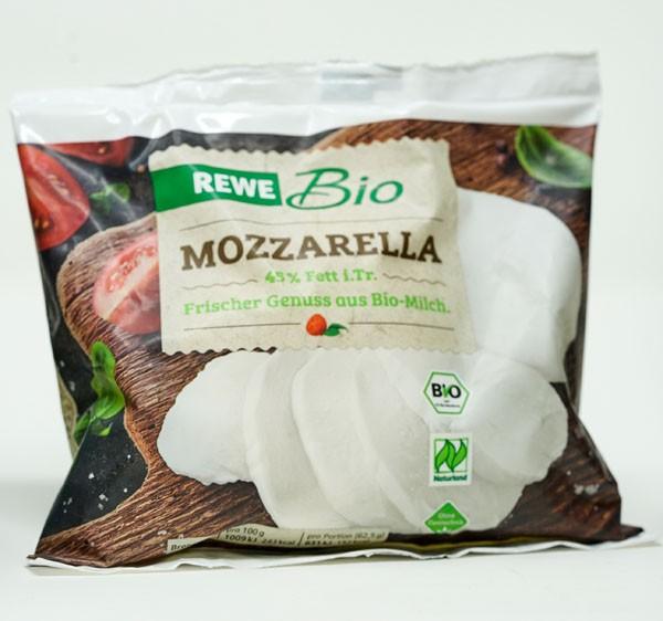 Rewe BIO Mozzarella 45% Fett i.Tr 125g